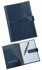 Blue Leather Pad Cover, Compendiums, Bags